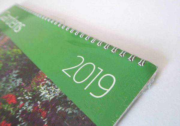 """Календарь-органайзер """"Сады"""" 2019 на год в упаковке. Угол с пружиной"""