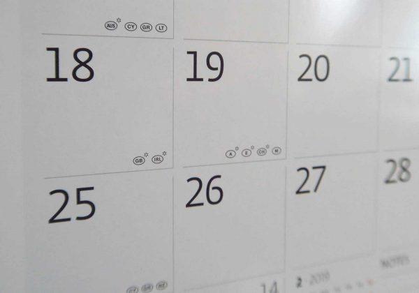 Сетка календаря-органайзера.