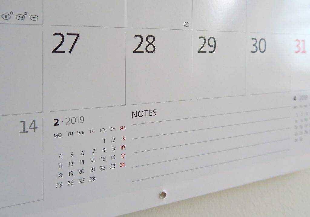 Поле для заметок календаря-органайзера