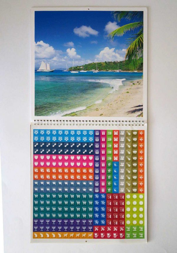 """Календарь-органайзер """"Tropical Beaches"""". Лист с наклейками"""