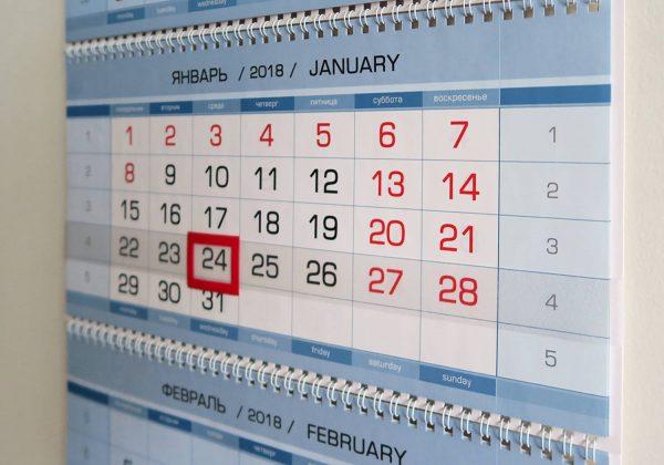 """Календарь """"Путин В.В,"""". Январь"""