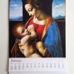 """Календарь """"Старые мастера"""" на стене. Январь"""