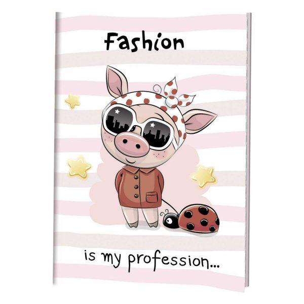 Блокноты с хрюшками Fashion is my profession 721-4