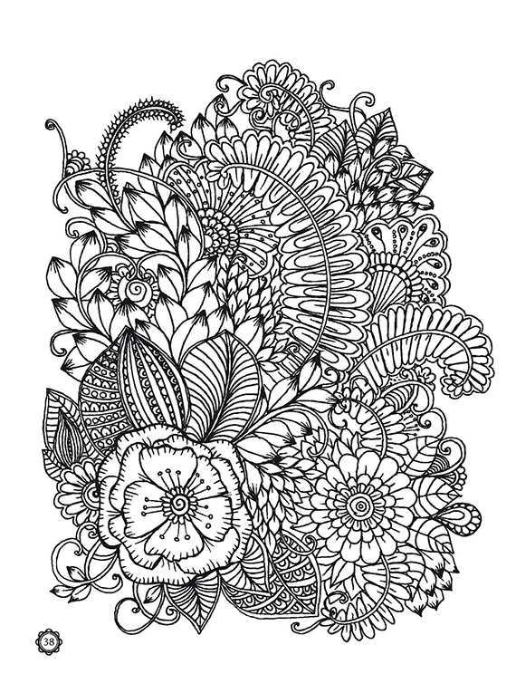 Волшебные цветы. Раскраски для взрослых. Рисуем для отдыха ...