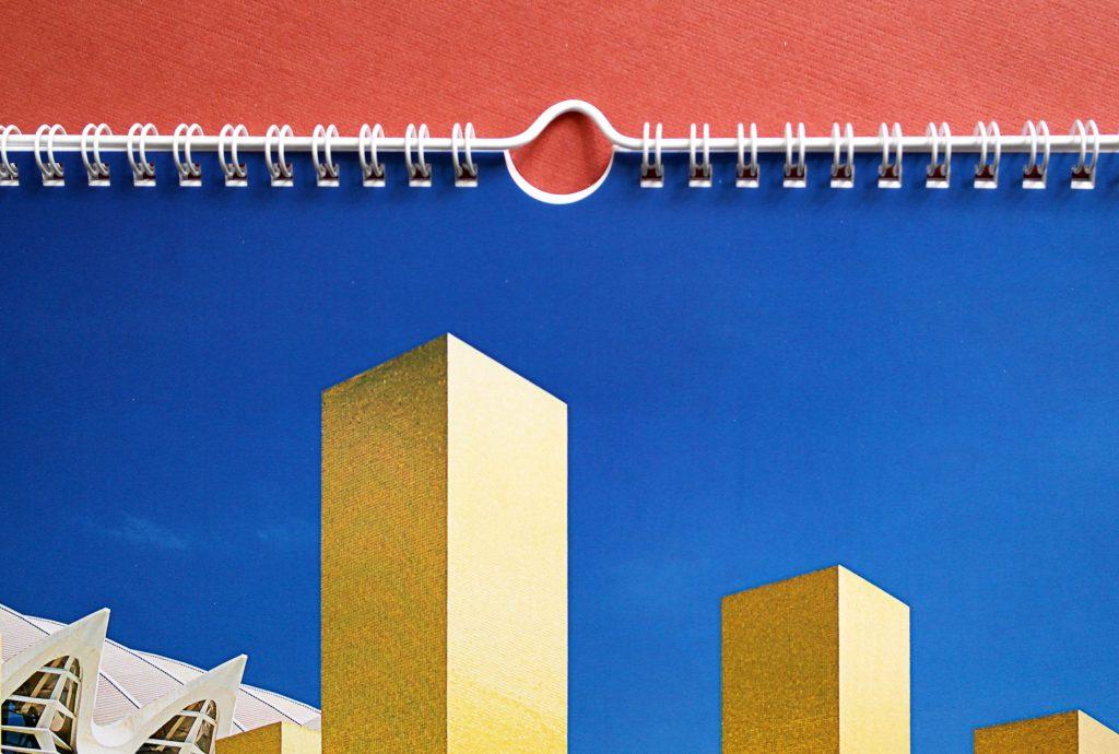 Настенный календарь Modern Architecture (Современная архитектура). Ригель, крупный план