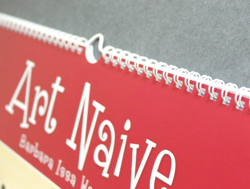 Настенный календарь Art Naive (Наивное искусство). Пружина, крупный план
