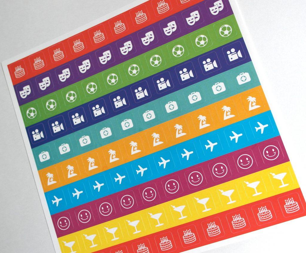 Календарь-органайзер. Лист наклеек
